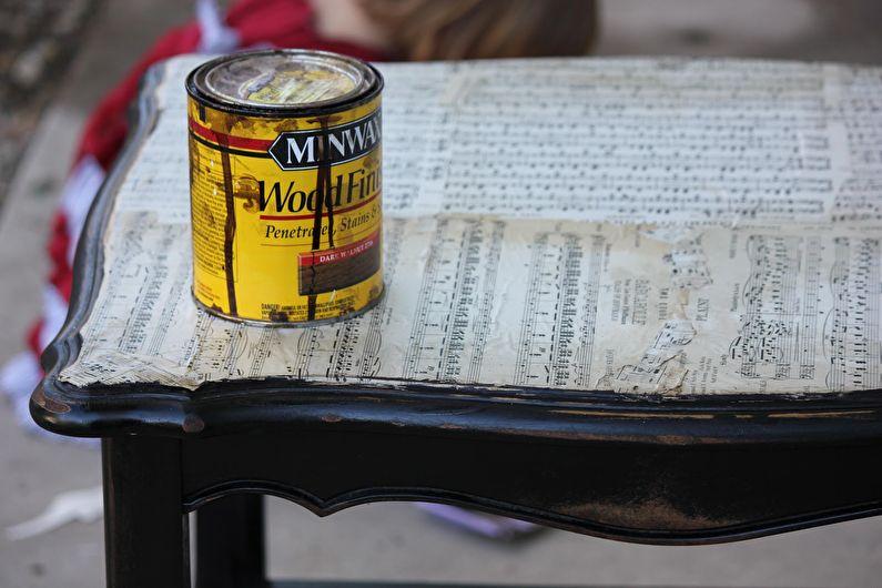 Декор стола своими руками - 12 способов реставрации и обновления старого стола