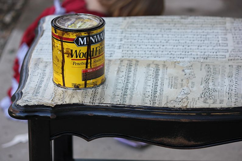 Декор старого стола своими руками