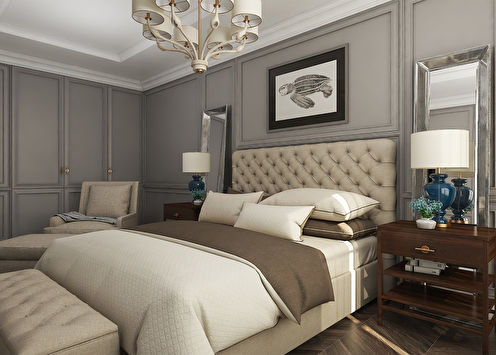 Проект спальни в ЖК «Английский Квартал», Москва