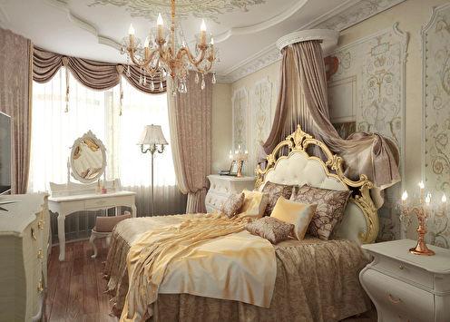 «Роскошь классики»: Интерьер спальни