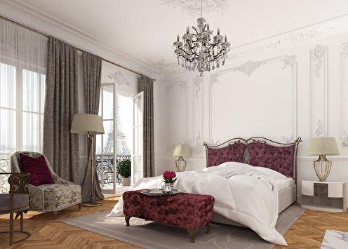 Утро в Париже: Дизайн спальни