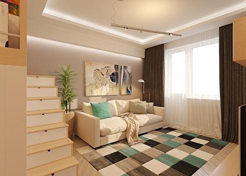 Дизайн однокомнатной квартиры от NovaBella