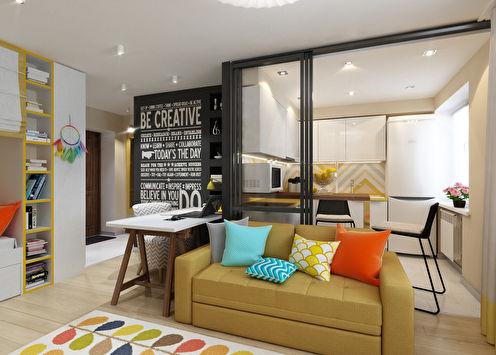 Интерьер маленькой квартиры для девушки-студентки