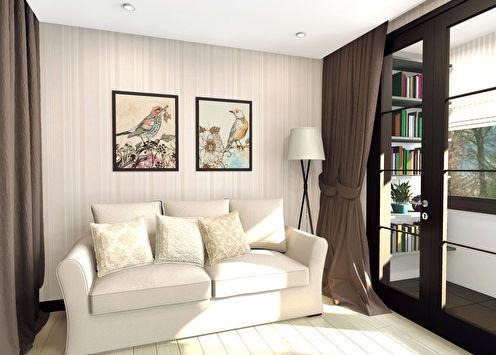 Маленькая квартира-студия «Гнездо»