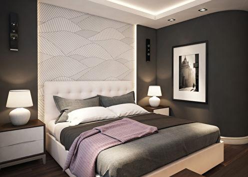 «Грань»: Спальня в современном стиле