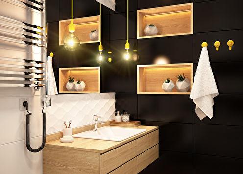 Ванная комната «Гармония контрастов»