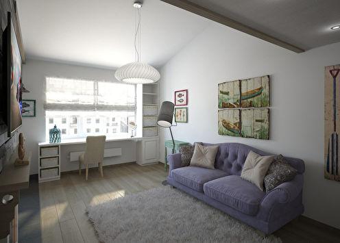 Интерьер однокомнатной квартиры в Петергофе