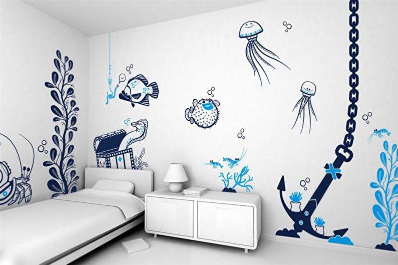 Декор стен своими руками - Трафареты