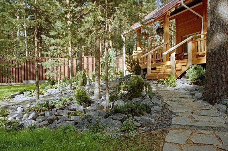 Садовые дорожки своими руками - Натуральный камень