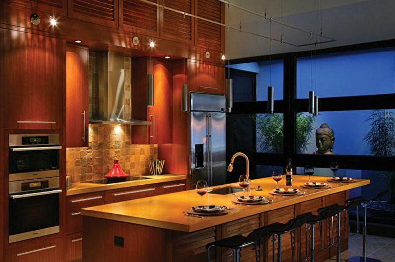 Дизайн кухни 2018 в восточном стиле