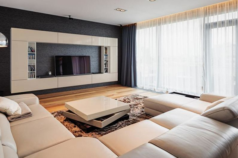 Дизайн гостиной 2018 в современном стиле