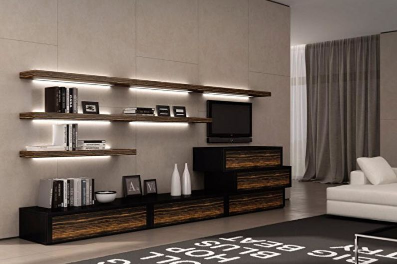 Дизайн гостиной 2018 - Мебель