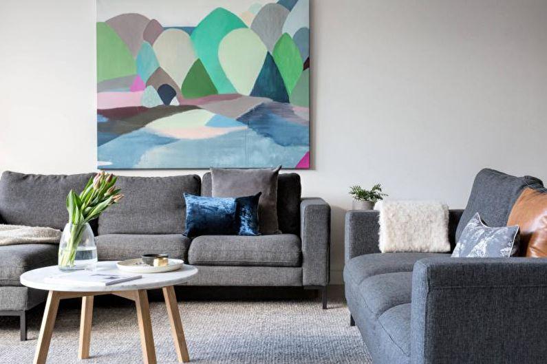 Дизайн гостиной 2018 - Текстиль