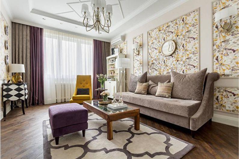 Дизайн интерьера гостиной 2018 - фото