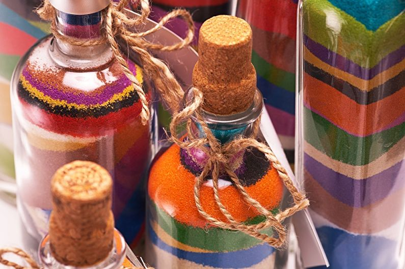 Декор бутылок своими руками - Декор солью