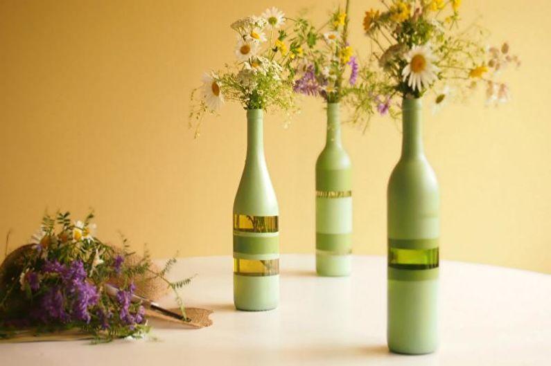 Декор бутылок своими руками - Окрашивание