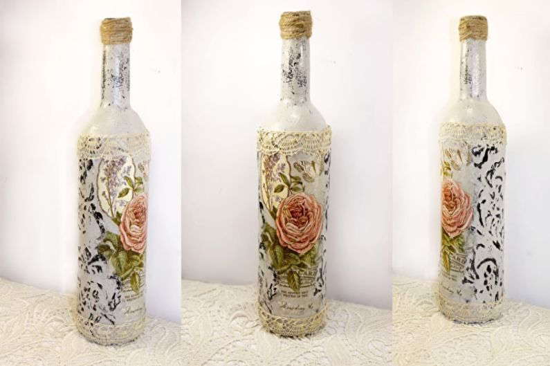 Декор бутылок своими руками - Декупаж