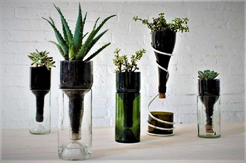 Декор бутылок своими руками - Цветочный декор