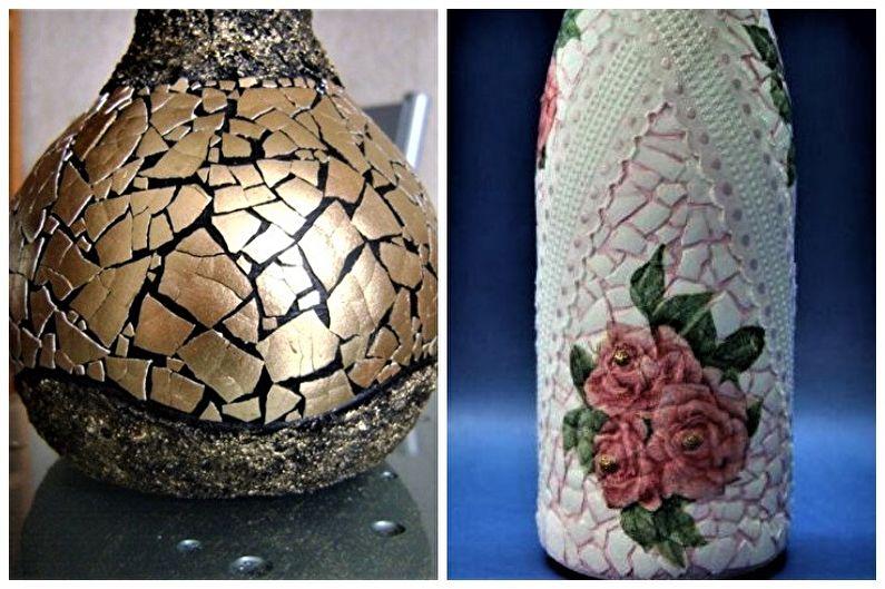 Декор бутылок своими руками - Декор яичной скорлупой