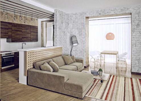 Интерьер квартиры «Этнос»
