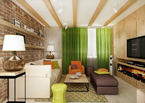 «Тепло и ярко»: Квартира в стиле фьюжн