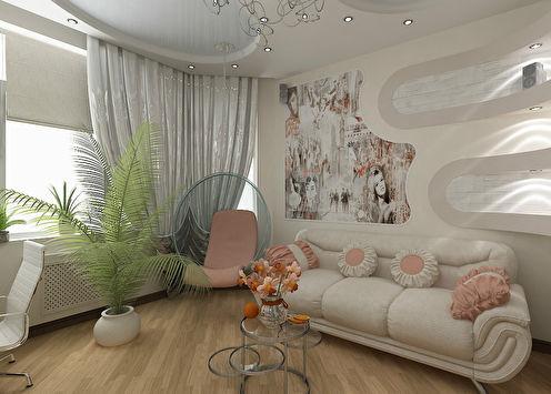 Квартира «Элегантные нотки», 51 м2