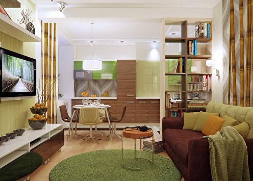 Однокомнатная квартира в стиле этно
