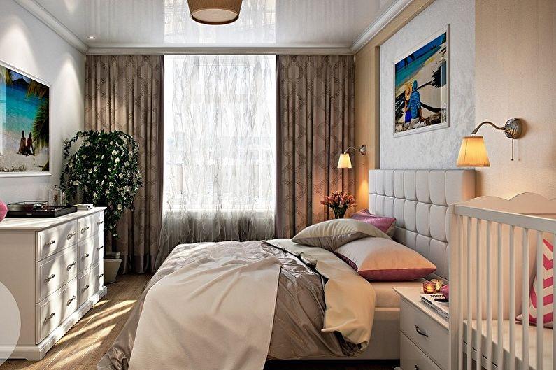Дизайн спальни и детской в одной комнате - Освещение и декор