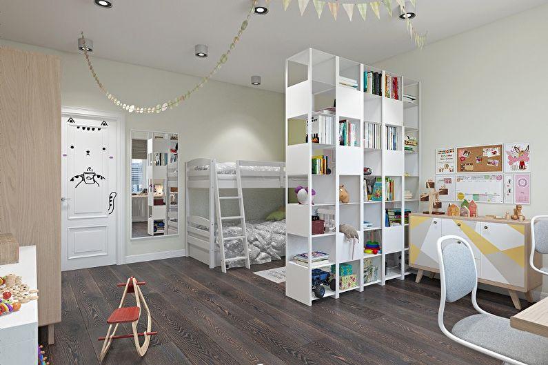 Дизайн детской комнаты для двух девочек - Цветовые решения