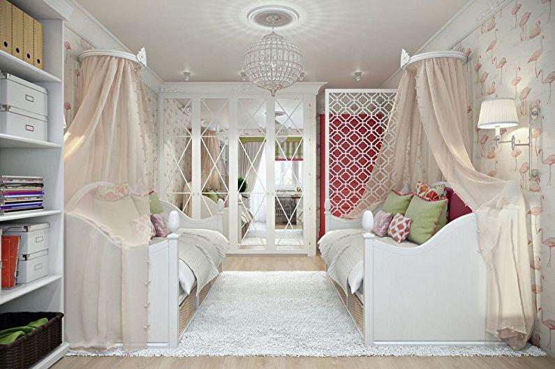Дизайн детской комнаты для двух девочек - Выбираем стиль интерьера