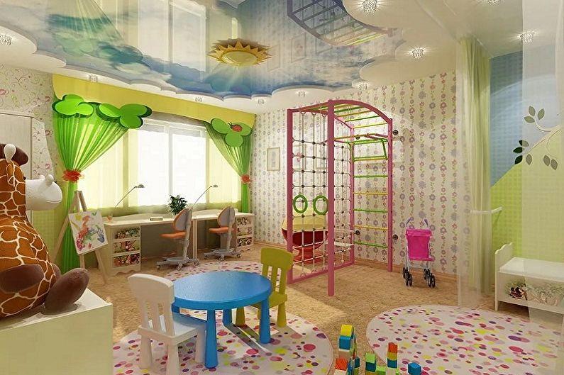 Мебель для детской комнаты для двух девочек - Игровая
