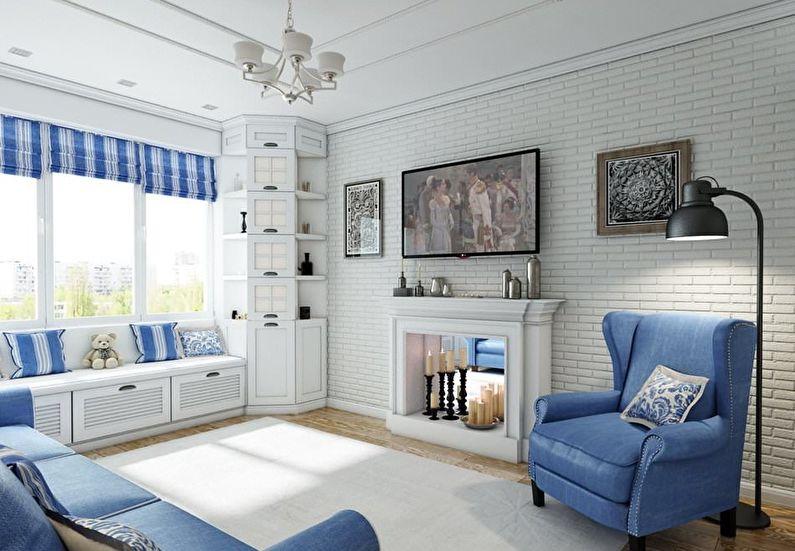 Маленькая квадратная гостиная - дизайн интерьера