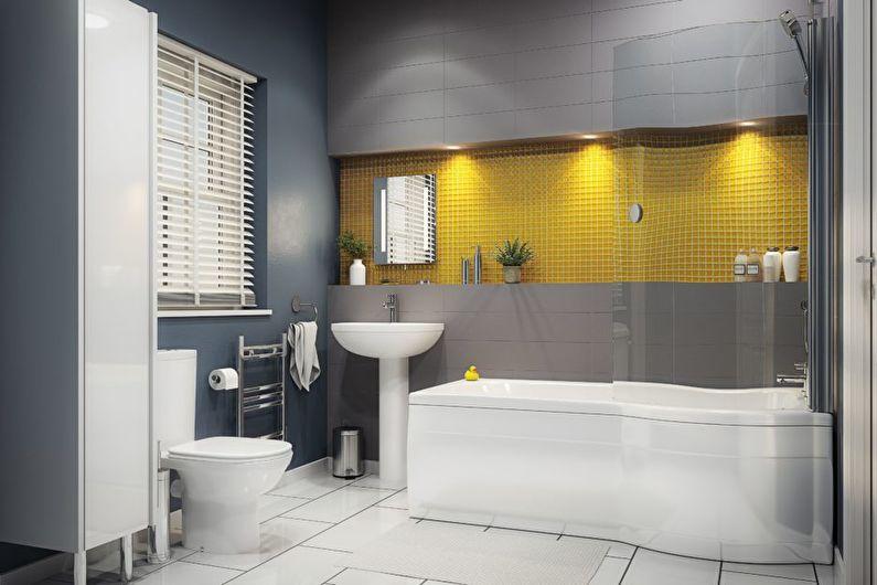 Серый цвет в интерьере - сочетание с желтым цветом