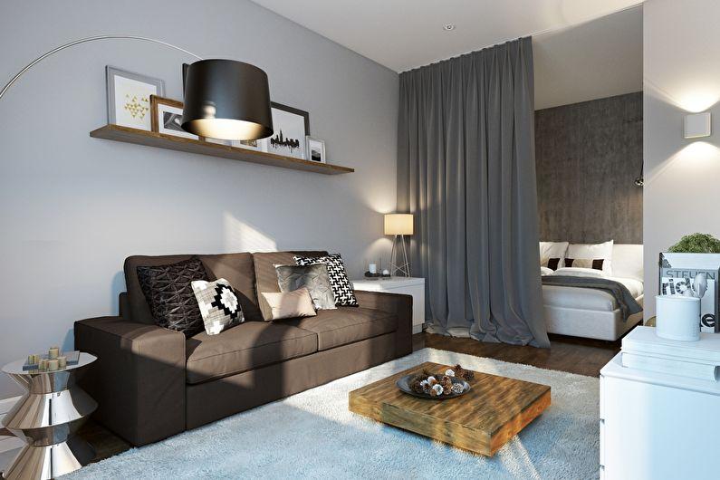 Серый цвет в интерьере гостиной