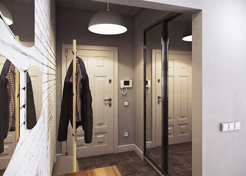 Серый цвет в интерьере прихожей и коридора