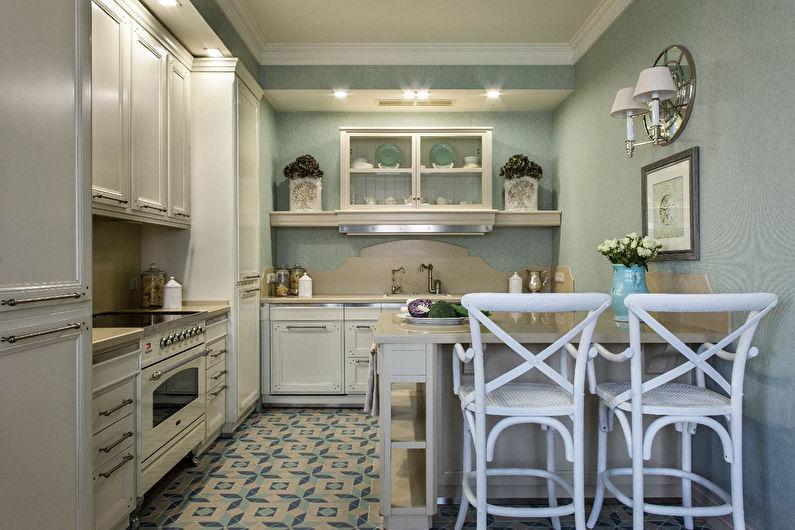 Дизайн кухни в классическом стиле - отделка стен