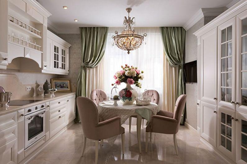 Дизайн кухни в классическом стиле - Обеденная зона