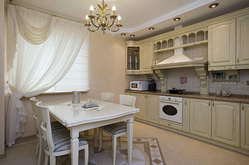 Дизайн кухни в классическом стиле - Освещение
