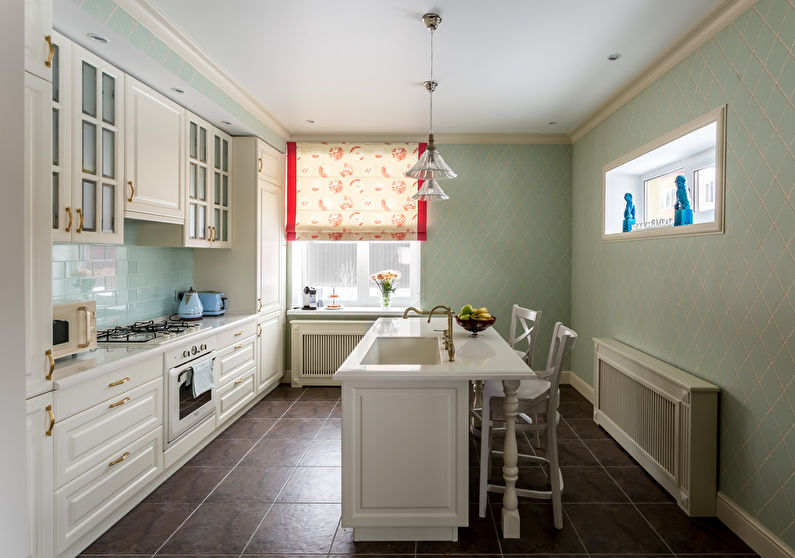 Светлые кухни в классическом стиле