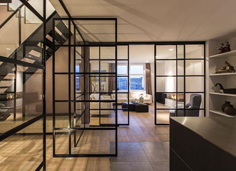 Армированные стеклянные перегородки в квартире