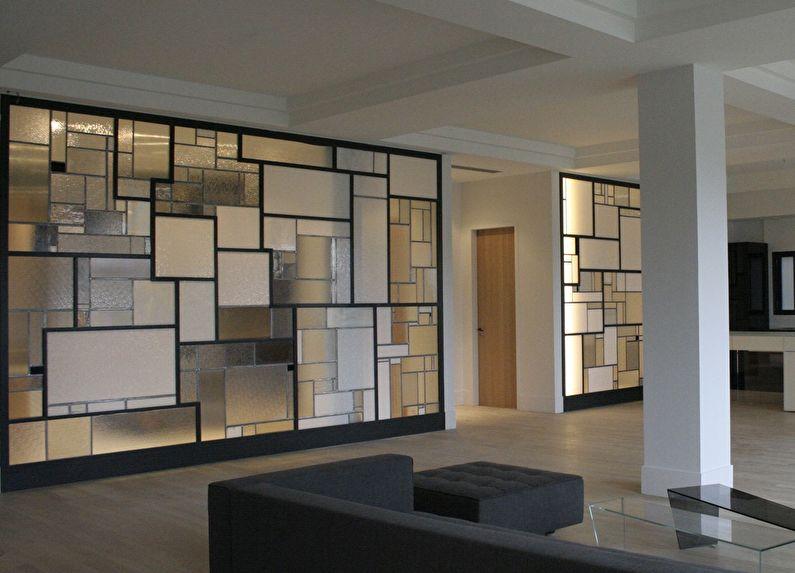Перегородки из рифленого стекла в квартире
