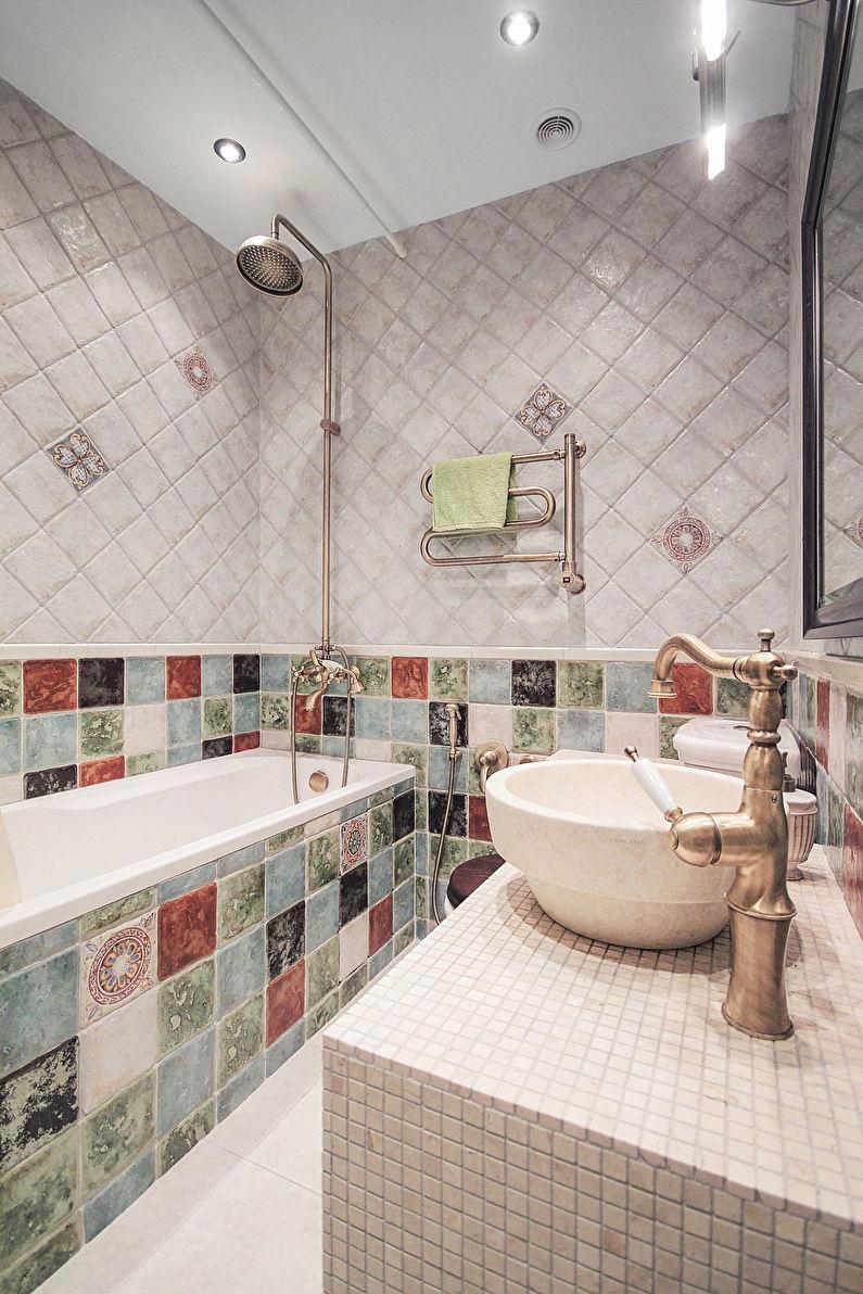 Дизайн ванной комнаты в хрущевке - классический стиль интерьера