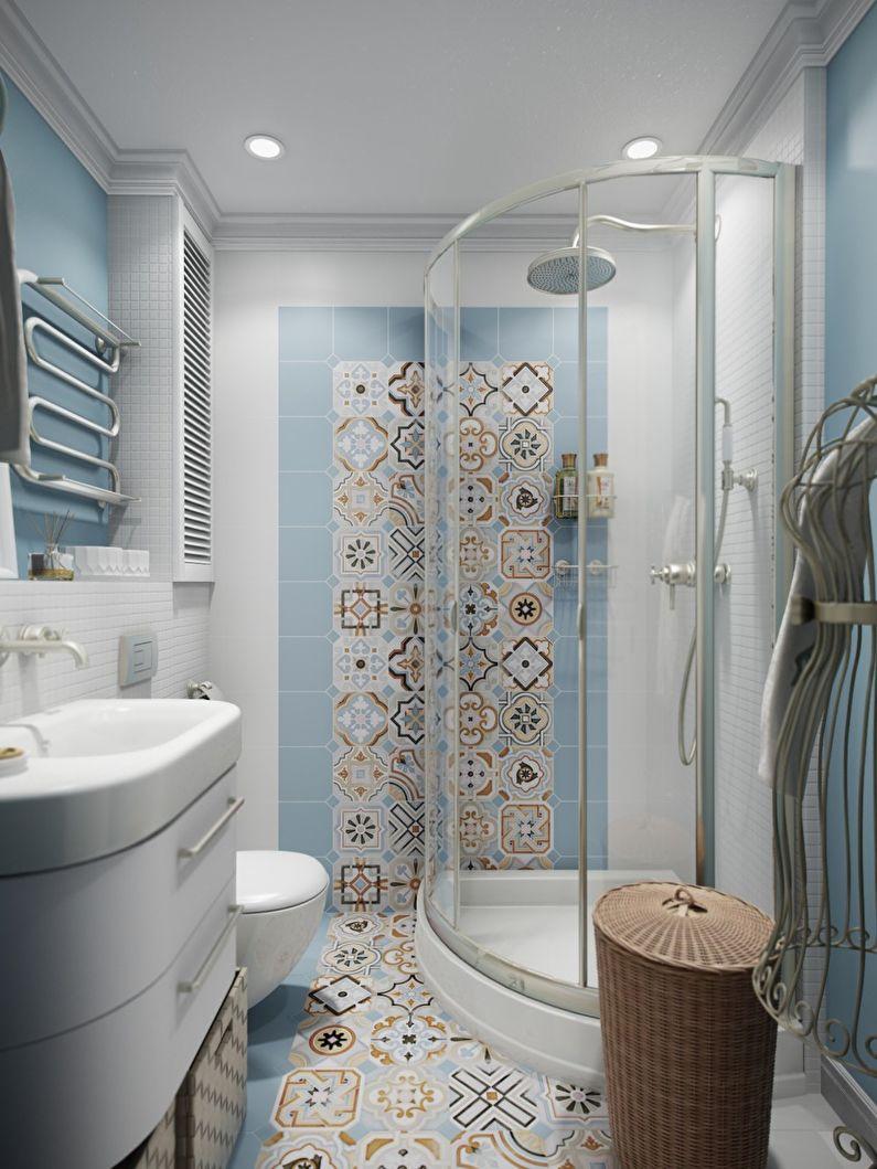 Ванная комната в хрущевке - дизайн пола