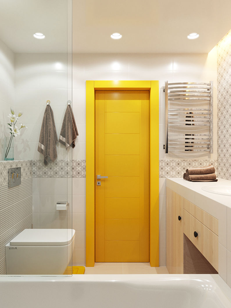 Ванная комната в хрущевке - дизайн стен