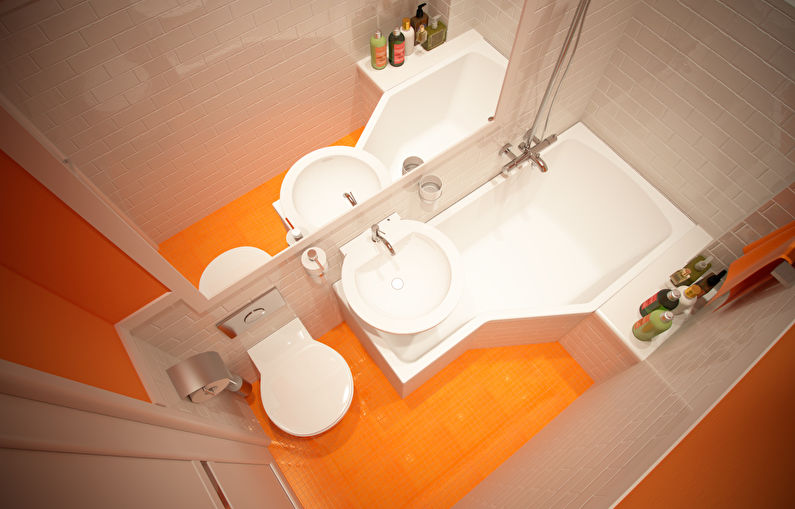 Дизайн ванной комнаты в хрущевке - ванна