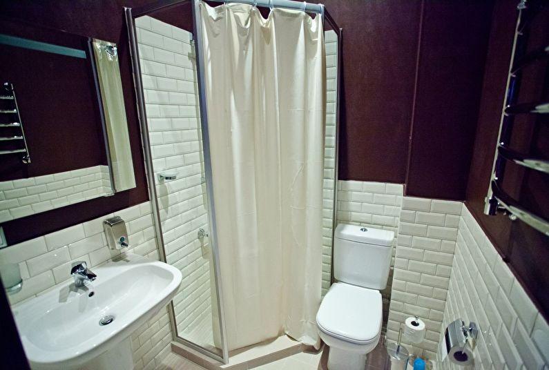 Дизайн ванной комнаты в хрущевке - душевая кабина
