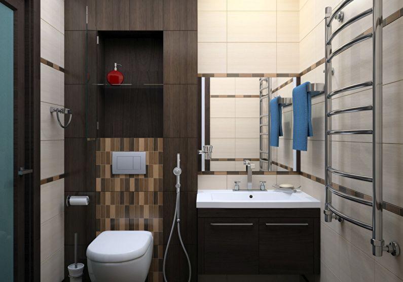 Дизайн ванной комнаты в хрущевке - раковина и унитаз