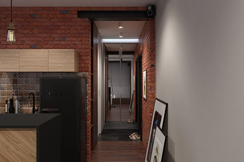 Потолок в маленькой прихожей - дизайн