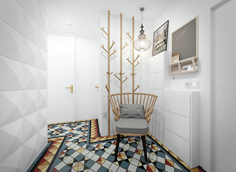 Дизайн интерьера маленькой прихожей