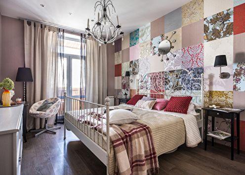 Комбинирование обоев в спальне (+50 фото)